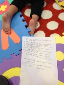 $王寺・柏原の英会話教室 レッスン 子供の英語教室なら HAYA English Academy (ハヤ イングリッシュ アカデミー)のブログ-Thank you note!