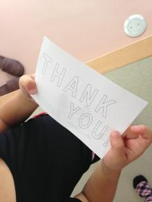 $王寺・柏原の英会話教室 レッスン 子供の英語教室なら HAYA English Academy (ハヤ イングリッシュ アカデミー)のブログ-Thank you card!